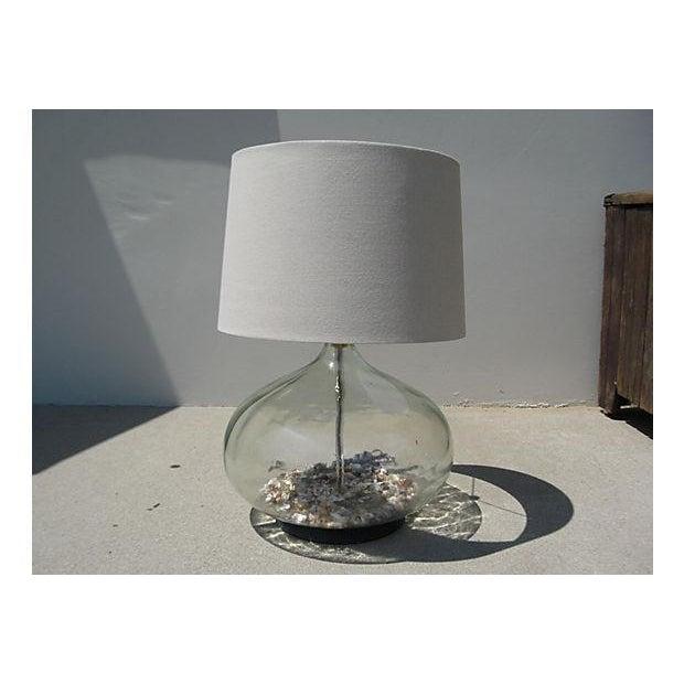 Coastal Glass Bottle Lamp - Image 2 of 5