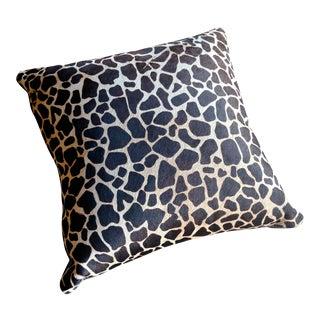 Gambrell Renard Giraffe Print Cowhide Pillow