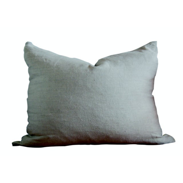 Vintage Alina Indigo Patchwork Lumbar Pillow - Image 2 of 2