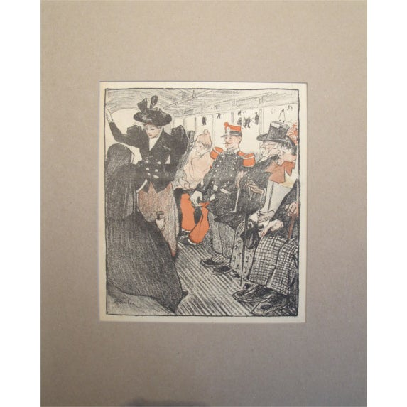 Original French Art Nouveau Print, Gil Blas 1894 - Image 1 of 2