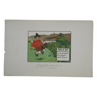 Crombies Rules of Golf Folio Size Lithograph C1905