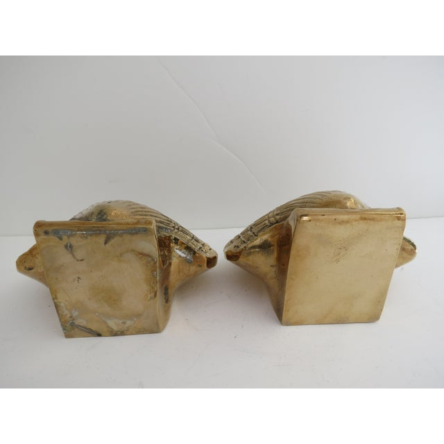 Image of Brass Shell Bookends