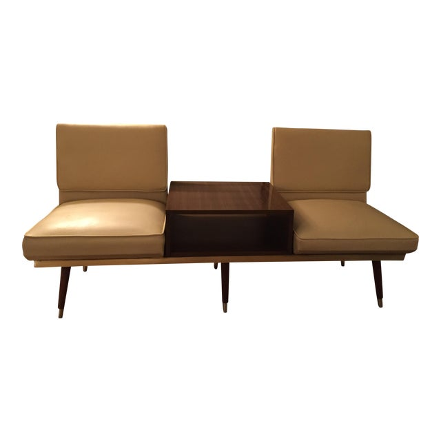 Sofa With Center Table: Murphy Miller Kroehler Mid-Century Two Seat Sofa Bench