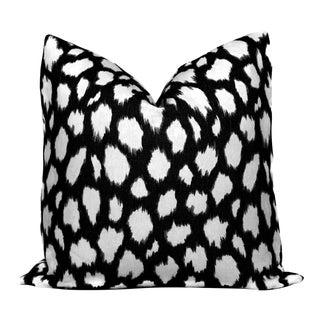 "20"" x 20"" Black Micato Leocat Pillow Cover"