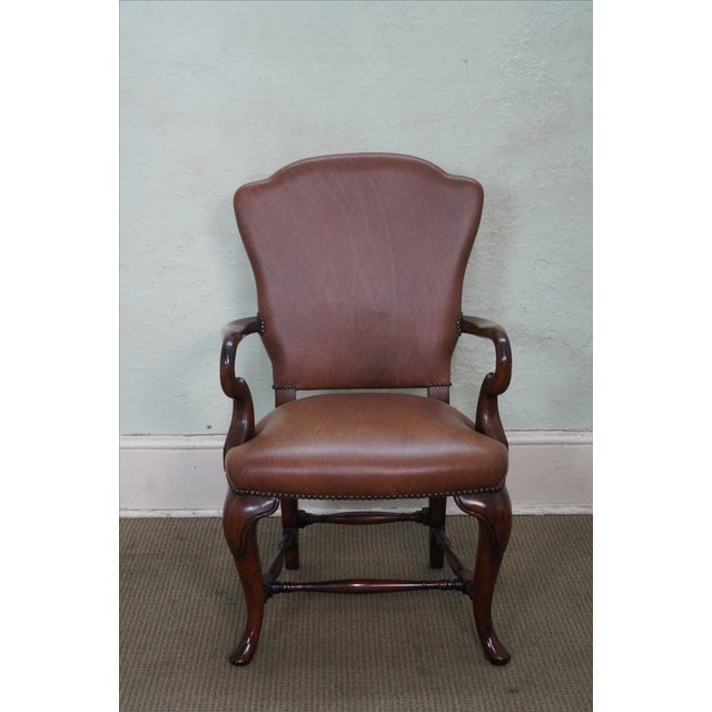 Lillian August 18th Century Leather Arm Chair - Image 2 of 10