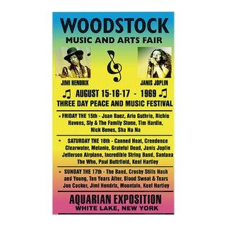 "Vintage 1969 ""Woodstock - Music & Arts Fair"" Poster"