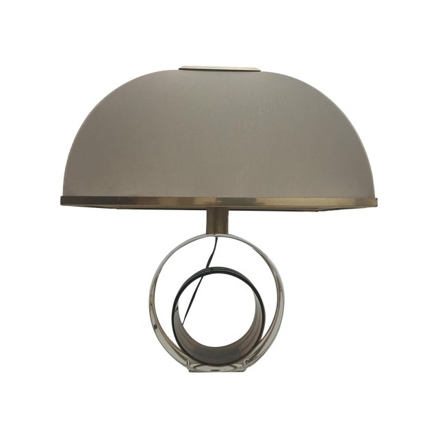 Image of Romeo Rego Circular Lucite Table Lamp