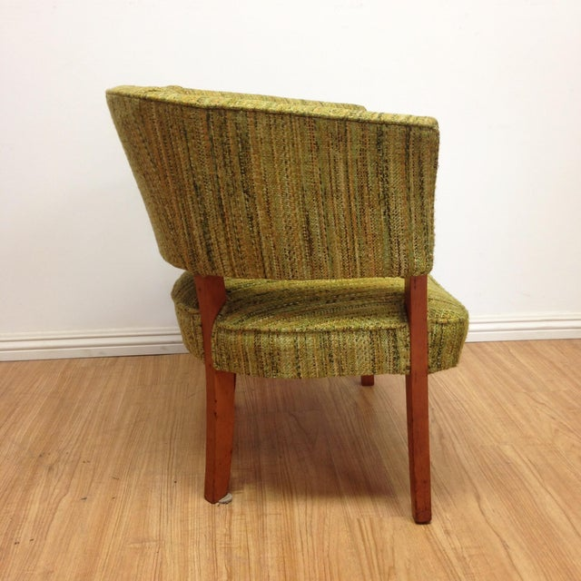 Image of Olive Tweed Curved Arm Chair