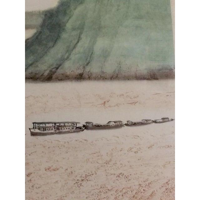 Vintage Asian Seaside Painting - Image 3 of 11