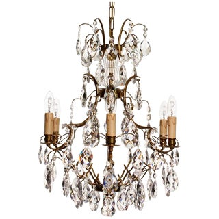 Baroque Ebony 5 Pendeloque Chandelier