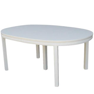 Mid-Century White Lacquer Dining Table