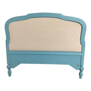 Upholstered Tourquoise Twin Headboard