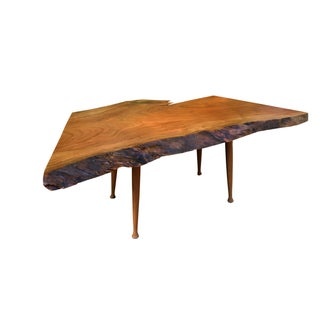 Cherry Burl Live Edge Cocktail Table