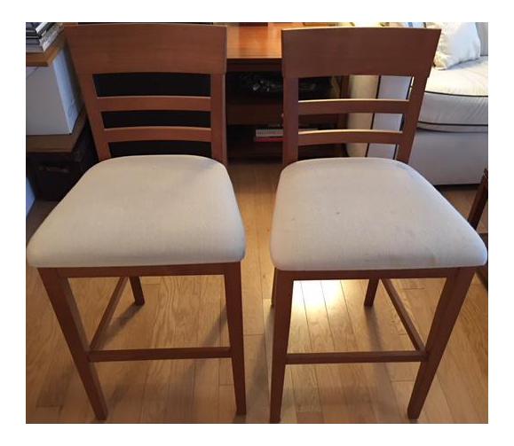 room u0026 board custom dining stools a pair