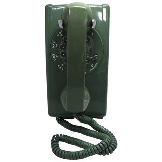 Moss Green Western Electric Rotary Dial Wall Phone