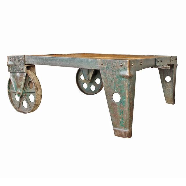 Vintage Industrial Coffee Table - Image 2 of 5