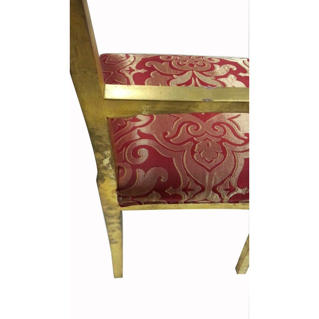 Gold Leafing Side Chair - Image 2 of 2