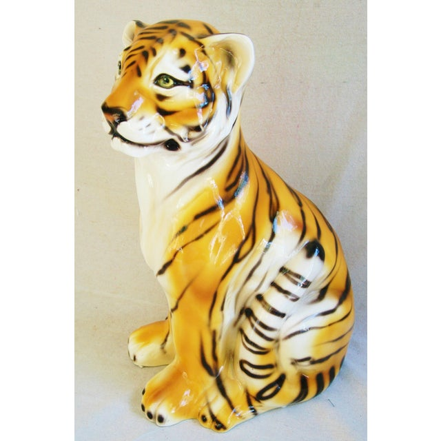 Large Mid-Century Porcelain Italian Tiger - Image 4 of 11