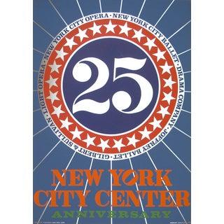 New York City Center Silkscreen by Robert Indiana