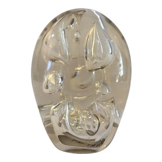 Glass Egg Paper Weight