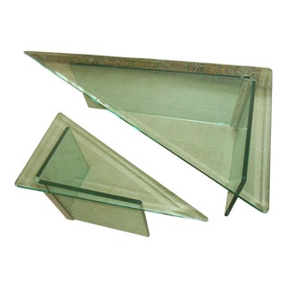 Leon Rosen for Pace Collection Designer Triangle Coffee Table