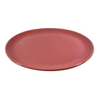 Metlox Mid-Century Modern Pink Rose Poppy Trail Platter