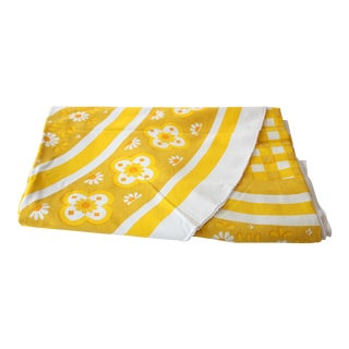 Mid-Century Yellow Oval Tablecloth