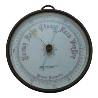 Early 20th Century Aneroid Barometer