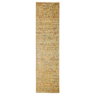 """Eclectic, Hand Knotted Runner Rug - 2' 7"""" X 9' 10"""""""