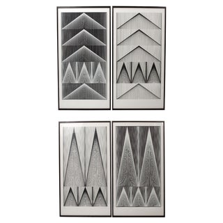 "One Pair of Rare Screen Prints, ""Cone Line 1"" by Verner Panton"