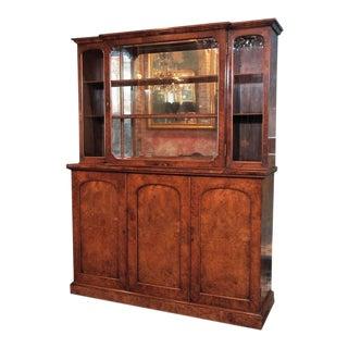 "English Burl Walnut ""Cocktails"" Bar Cabinet-1920's"