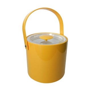 Vintage 1960's Yellow George Briard Ice Bucket