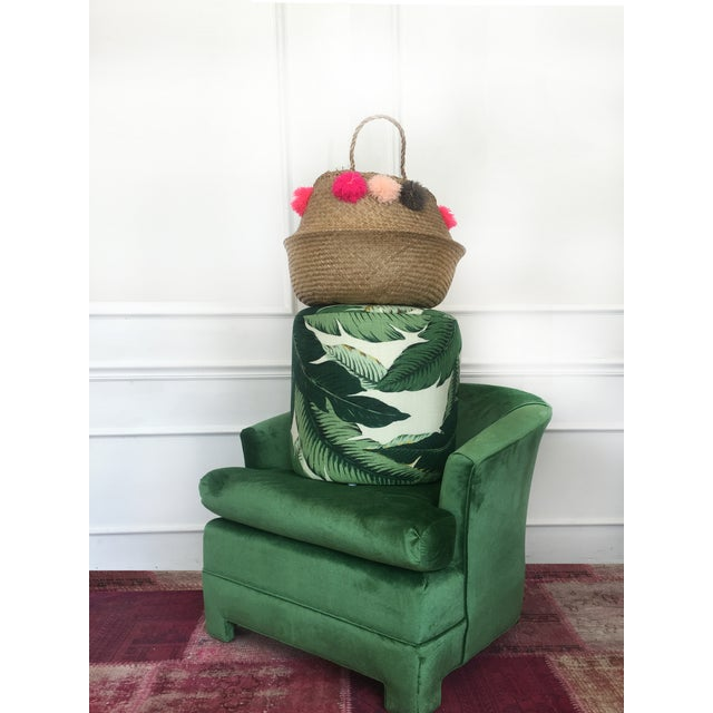 Green Velvet Milo Baughman Club Chairs - A Pair - Image 4 of 4