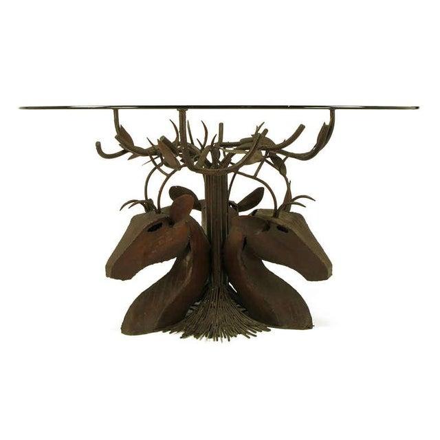 Image of Studio Steel Sculpture Deer Trio Dining Table