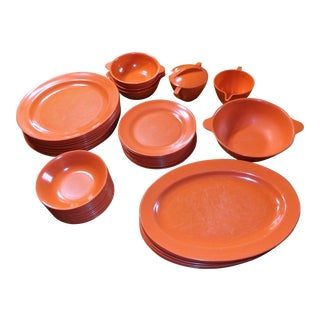 Mallo-Ware Salmon Melamine Table Settings