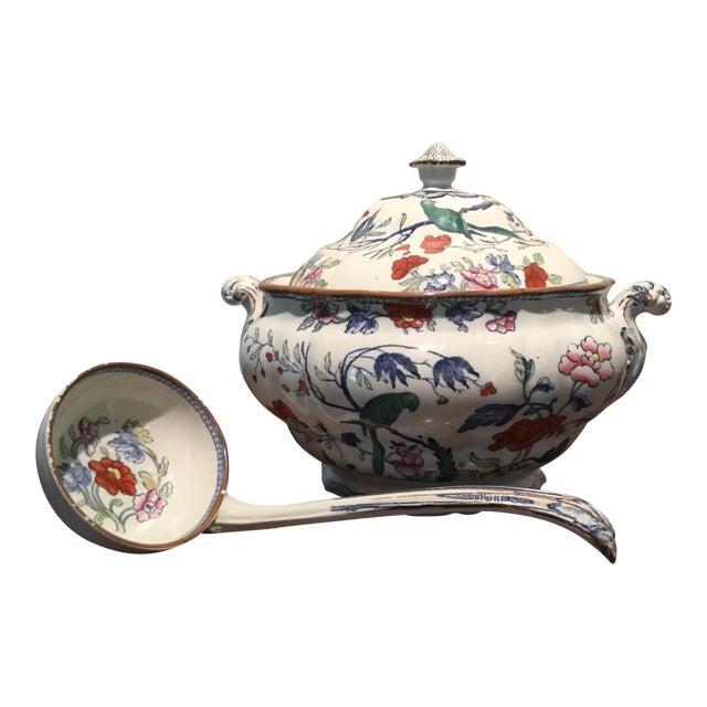 Antique Soup Tureen & Ladle - Image 1 of 4