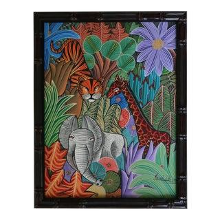 Haitian Jungle Animals Painting