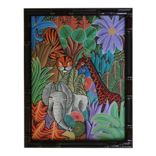 Haitian Jungle Animals Painting