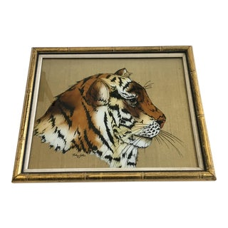 Reverse Painting on Glass Tiger
