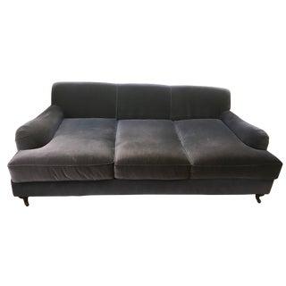 """Restoration Hardware 84"""" Velvet Sofa"""