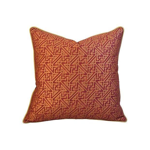 Image of Custom Italian Mariano Fortuny Simboli Feather/Down Pillows - Pair