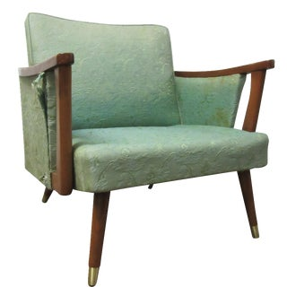 Vintage Danish Modern Walnut Swing Arm Chair