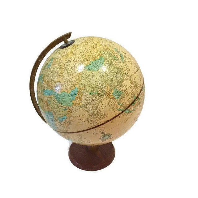 Vintage Crams Imperial World Globe Wood Stand - Image 3 of 6
