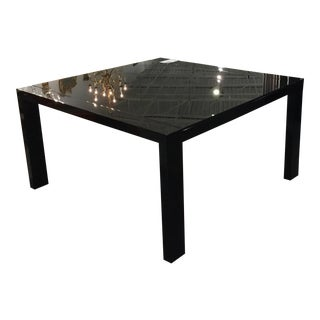 Calligaris Italian Black Lacquer Dining Table