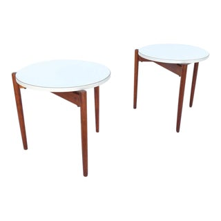 Walnut Stacking Side Tables by Jens Risom - A Pair