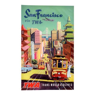 Matted and Framed Vintage San Francisco Travel Poster