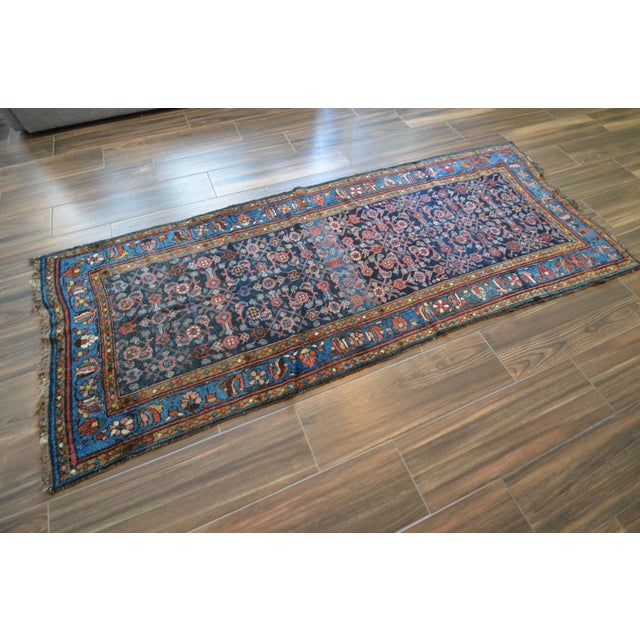 Antique Persian Hand Woven Runner- 3′10″ × 9′7″ - Image 3 of 11