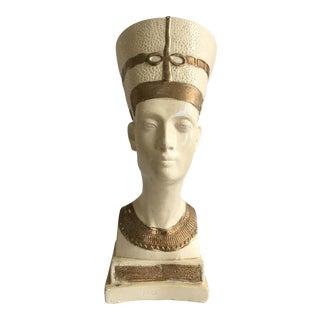 Vintage Plaster Mid-Century Egyptian Bust