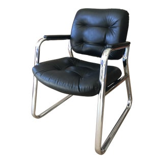 Modernist Chrome Arm Chair