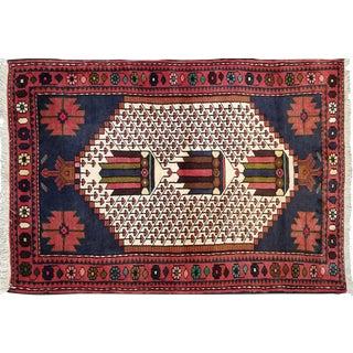 "Vintage Persian Rug - 3' X 4'3"""